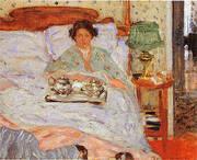 Le Lejeuner au lit 1906 By Frederick Carl Frieseke