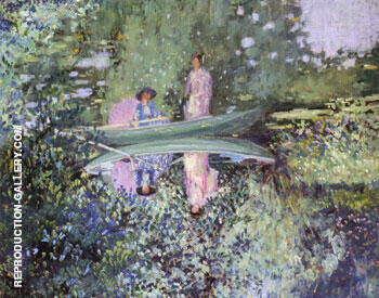 Gray Day on the River 1909 Painting By Frederick Carl Frieseke