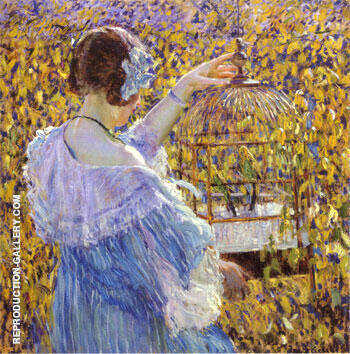 The Bird Cage 1910 By Frederick Carl Frieseke