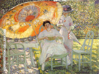The Garden Parasol 1910 By Frederick Carl Frieseke