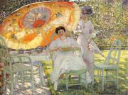 The Garden Parasol 1910 By Frederick Carl Frieseke