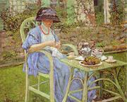 Breakfast in the Garden 1911 By Frederick Carl Frieseke