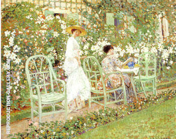 Reproduction of Lilies 1911 by Frederick Carl Frieseke | Oil Painting Replica On CanvasReproduction Gallery