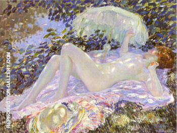 Reproduction of Venus in the Sunlight 1913 by Frederick Carl Frieseke | Oil Painting Replica On CanvasReproduction Gallery