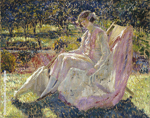 Sunbath 1914 Painting By Frederick Carl Frieseke - Reproduction Gallery