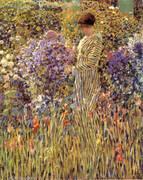 Lady in a Garden 1912 By Frederick Carl Frieseke