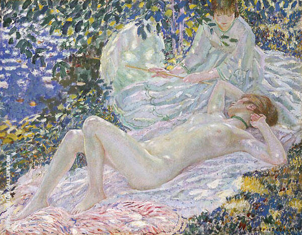 Summer 1914 By Frederick Carl Frieseke Replica Paintings on Canvas - Reproduction Gallery