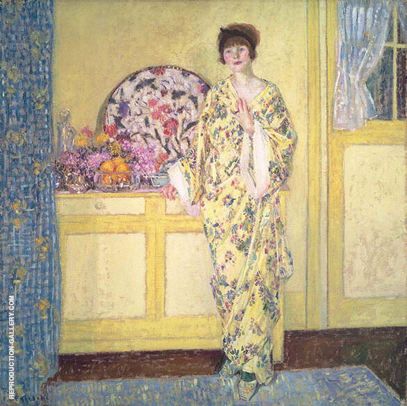 The Yellow Room 1913 Painting By Frederick Carl Frieseke
