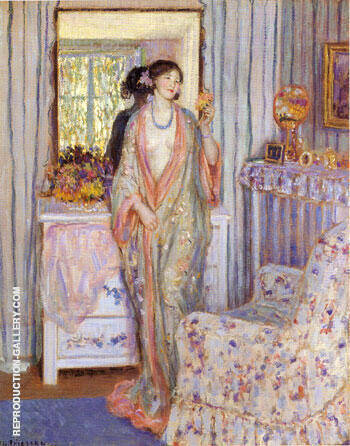 The Robe 1913 By Frederick Carl Frieseke - Oil Paintings & Art Reproductions - Reproduction Gallery