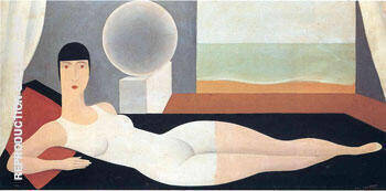 Reproduction of Bather 1925 by Rene Magritte | Oil Painting Replica On CanvasReproduction Gallery