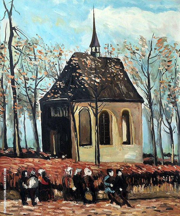 Congregation Leaving The Reformed Church in Nuenen 1884 Painting By ...