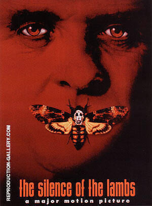 THE SILENCE OF THE LAMBS JONATHAN DEMME 1991 By Classic-Movie-Posters - Oil Paintings & Art Reproductions - Reproduction Gallery