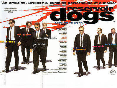 RESERVOIR DOGS QUENTIN TARANTINO 1992 By Classic-Movie-Posters