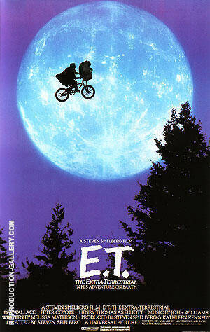 E.T. THE EXTRA TERRESTRIAL STEVEN SPIELBERG 1982 By Classic-Movie-Posters Replica Paintings on Canvas - Reproduction Gallery