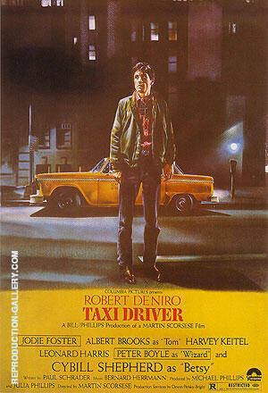 Reproduction of TAXI DRIVER MARTIN SCORSESE 1976 by Classic-Movie-Posters | Oil Painting Replica On CanvasReproduction Gallery