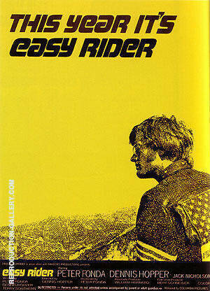 EASY RIDER DENNIS HOPPER 1969 By Clasic-Movie-Posters - Oil Paintings & Art Reproductions - Reproduction Gallery