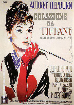 BREAKFAST AT TIFFANYS COLAZIONE DA TIFFANY By Classic-Movie-Posters