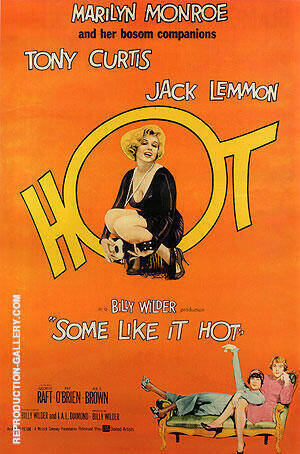 SOME LIKE IT HOT BILLY WILDER 1959 By Classic-Movie-Posters - Oil Paintings & Art Reproductions - Reproduction Gallery