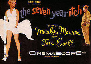 THE SEVEN YEAR ITCH BILLY WILDER 1955 By Clasic-Movie-Posters - Oil Paintings & Art Reproductions - Reproduction Gallery