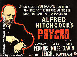 PSYCHO ALFRED HITCHCOCK 1960 By Classic-Movie-Posters