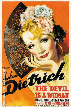 THE DEVIL IS A WOMAN 1935 Painting By Classic-Movie-Posters