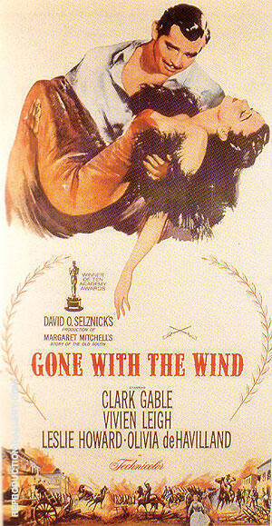GONE WITH THE WIND VICTOR FLEMING 1939 Painting By Classic-Movie-Posters