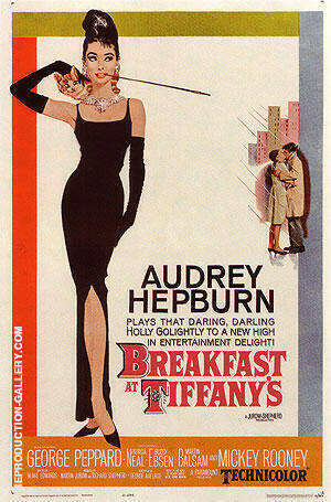 BREAKFAST AT TIFFANY'S By Classic-Movie-Posters Replica Paintings on Canvas - Reproduction Gallery