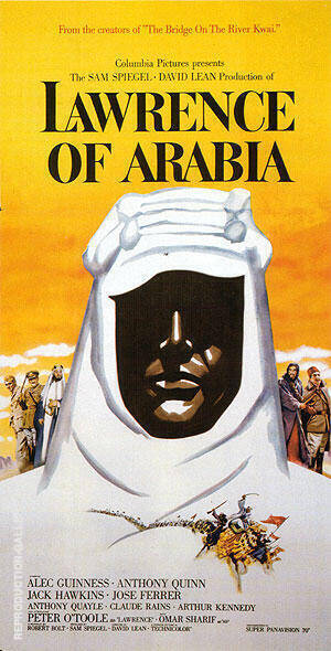 LAWRENCE OF ARABIA 1962 By Classic-Movie-Posters