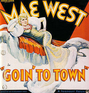 MAE WEST GOIN TO TOWN 1935 By Classic-Movie-Posters Replica Paintings on Canvas - Reproduction Gallery