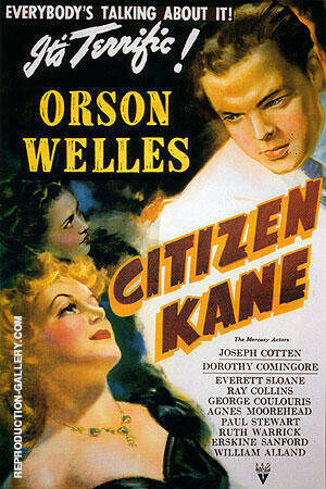 CITIZEN KANE 1941 By Clasic-Movie-Posters - Oil Paintings & Art Reproductions - Reproduction Gallery
