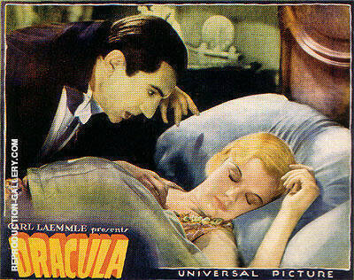 Reproduction of DRACULA 1931 by Classic-Movie-Posters | Oil Painting Replica On CanvasReproduction Gallery