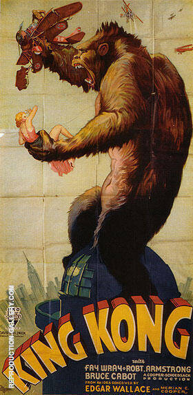 KING KONG 1933 By Classic-Movie-Posters Replica Paintings on Canvas - Reproduction Gallery