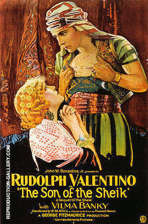 THE SON OF THE SHEIK 1926 Painting By Classic-Movie-Posters
