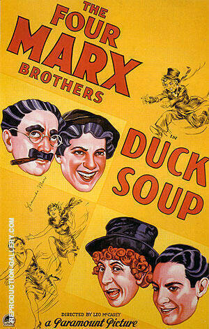 Reproduction of DUCK SOUP 1933 by Classic-Movie-Posters | Oil Painting Replica On CanvasReproduction Gallery