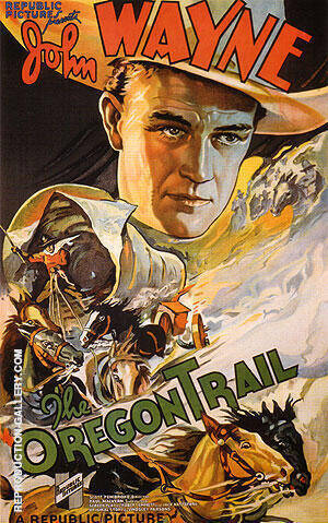 THE OREGON TRAIL 1936 By Clasic-Movie-Posters - Oil Paintings & Art Reproductions - Reproduction Gallery