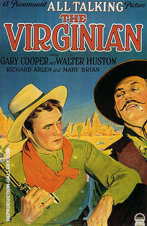 THE VIRGINIAN 1929 By Clasic-Movie-Posters - Oil Paintings & Art Reproductions - Reproduction Gallery