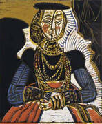 Portrait of a Woman after Cranach the Younger 1958 By Pablo Picasso