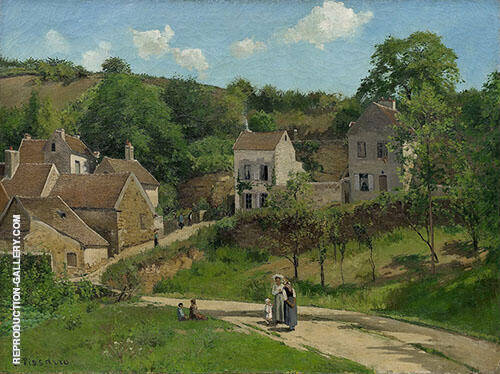 Reproduction of L'Hermitage A Pointoise 1867 by Camille Pissarro | Oil Painting Replica On CanvasReproduction Gallery