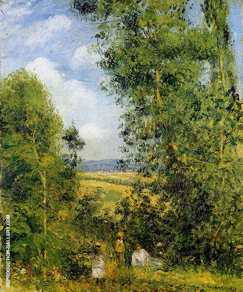 Resting in the Woods Pointoise 1878 By Camille Pissarro