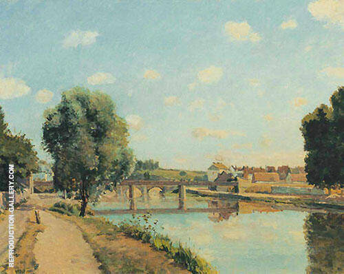The Railway Bridge at Pontoise 1873 By Camille Pissarro