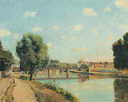 The Railway Bridge at Pontoise 1873 By Camille Pissarro
