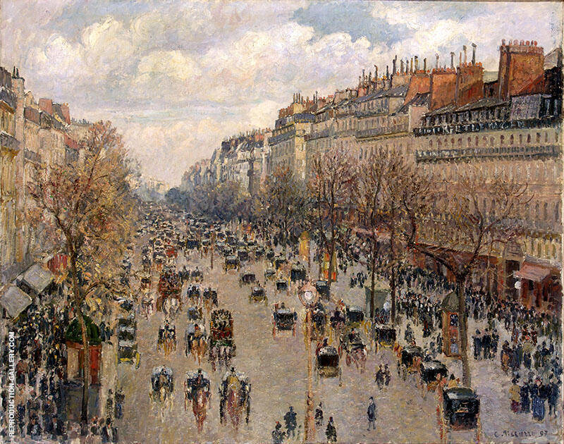 Boulevard Montmartre Afternoon Sunshine 1897 By Camille Pissarro