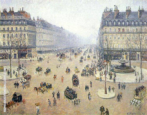 Avenue de l'Opera Misty Weather 1898 By Camille Pissarro