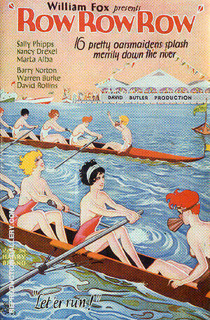 Row Row Row, 1928/29 By Sporting-Movie-Posters Replica Paintings on Canvas - Reproduction Gallery