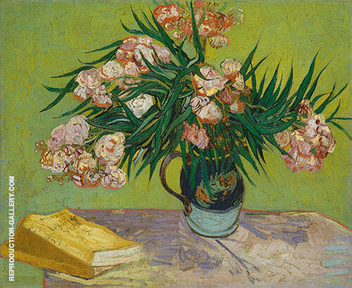 Reproduction of Oleanders 1888 by Vincent van Gogh | Oil Painting Replica On CanvasReproduction Gallery