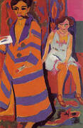 Self-Portrait with Model c1910 By Ernst Kirchner