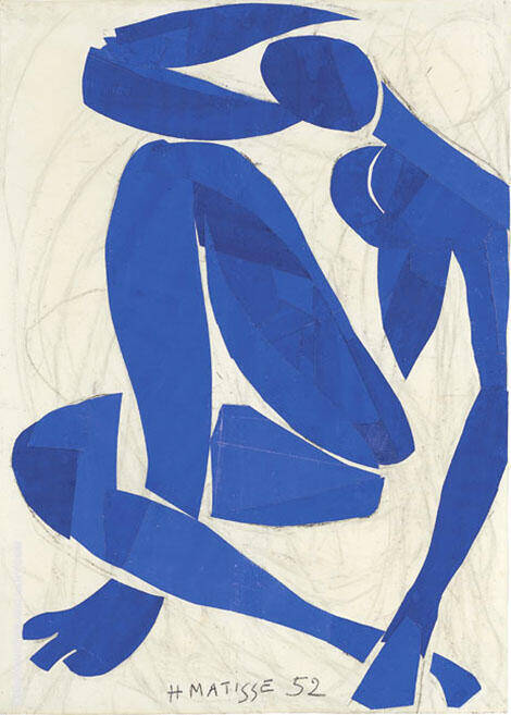 Blue Nude IV By Henri Matisse