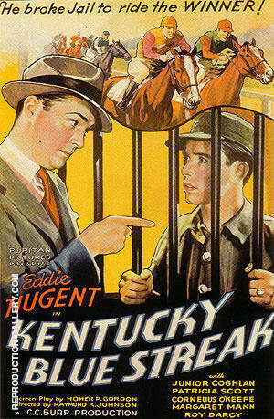 Kentucky Blue Streak, 1935 By Sporting-Movie-Posters - Oil Paintings & Art Reproductions - Reproduction Gallery