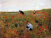 Poppies in a Field 1888 By Mary Cassatt