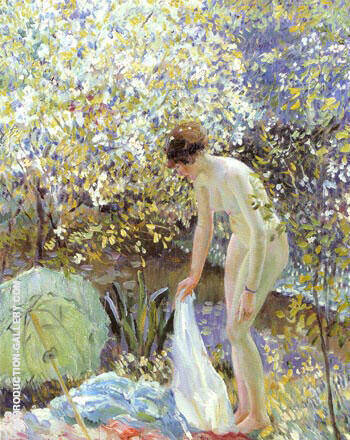 Cherry Blossoms c 1913 By Frederick Carl Frieseke